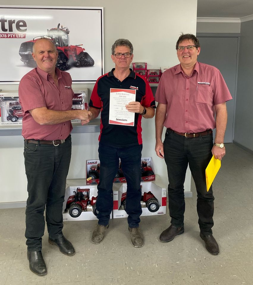 Vincent Jenkin at Farmers Centre 1978 Katanning recently attained his 5 Year Milestone