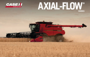 Case IH Axial - Flow combines at farmers centre 1978